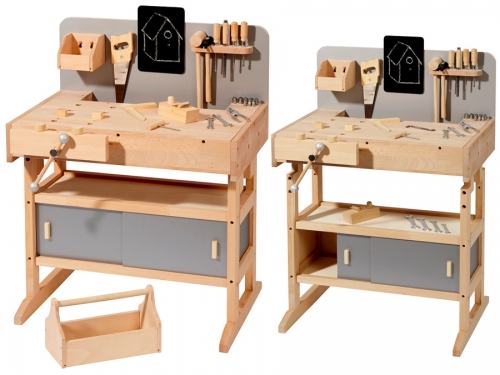 Wooden kids workbench with toolbox with 32 pcs. tools 4900