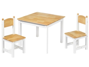 Wooden table and chair set 5860