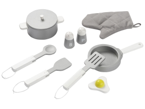wooden kitchen set white / steel gray 4862