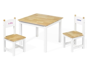 Wooden table and chair set 5860 - personalized