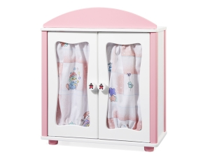 Wooden wardrobe for dolls 2601