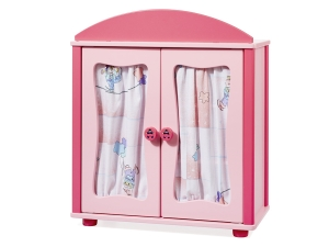 Wooden wardrobe for dolls 2611