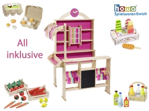Toy shop with 39 toy shop accessories 14748