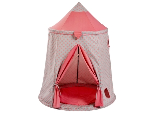 Play tent stars rose / gray with floor mat