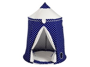 Play tent stars white / blue with floor mat